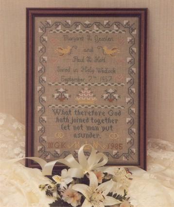 Wedding Sampler Kit For Counted Cross Sch