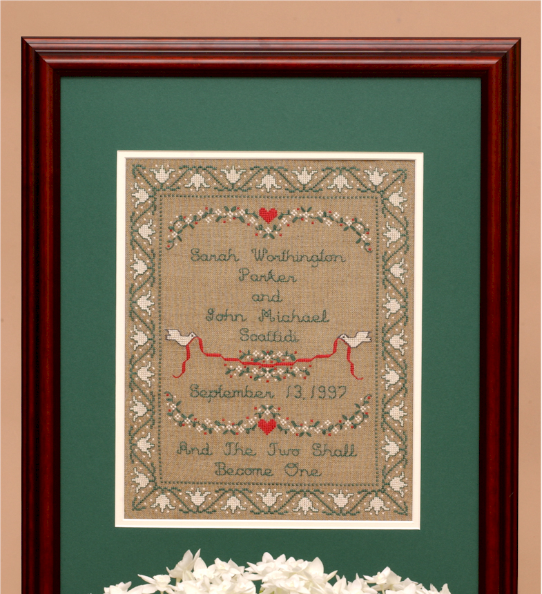 Victorian Wedding Sampler Kit For Counted Cross Sch